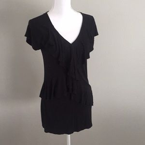 Versatile & flattering Black flowy maternity top